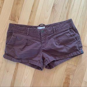 Garage burgundy shorts